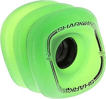 Shark Sidewinder 78A Transparent Wheels, 70mm, Green